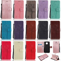 Cat Tree Wallet Leather Flip Case Cover For Motorola Moto G8 Play G7 Play G6 G5