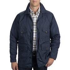 CC FILSON Elkhorn PACKABLE JACKET Cargo TRAVEL Coat MEN sz MEDIUM Dark NAVY Blue