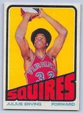 "1972-73 JULIUS ERVING - Topps ""ROOKIE REPRINT"" Basketball Card # 195 - VIRGINIA"