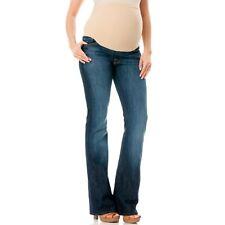 A Pea In The Pod !IT Maternity Jeans Dark Denim Wash Size 30 Small S Distressed