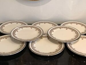 Vintage Lenox Lace Point Bread and Butter Plate Set of 8