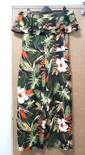 DOROTHY PERKINS Floral Ruffle Culotte Jumpsuit, Size 12, (New Without Tag)