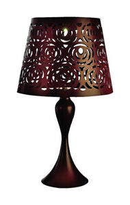Paradise Lighting GL39785 Metal Brown Outdoor Solar Decor Table Lamp 17.32 H in.