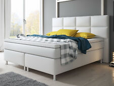 Boxspringbett MIAMI Bett Hotelbett Doppelfederkern 180x200 cm Kunstleder Weiß