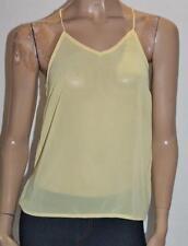 Unbranded Yellow Chiffon Sleeveless Top Size 6 BNWT #sL44