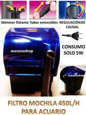 FILTRO MOCHILA 450l/h ACUARIO BAJO CASCADA 5W CAUDAL REGULABLE EXTERIOR EXTERNO