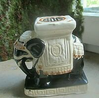 dekorativer elefant aus keramik ca 70er