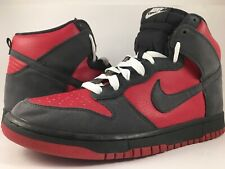 """3bf02dd7d679 Nike Dunk High """"Ultraman"""" Red Anthracite Grey White Men s Size 10.5  317982-601"""