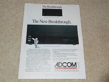 Adcom GFA-555, GFA-555II Amplifier Ad, 1991, 1 page, Specs, Nice Ad!