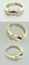 Massiver Brillantring 0,11 ct. - Goldring 585 bicolor - Ring Gold - Damenring