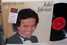 """Julio Iglesias 1100 Bel Air Place First English Album LP EX+""""Shrink/Song Sticker"""