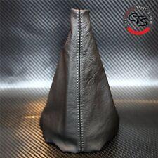 PEUGEOT 206 CC HDI GTI cuciture grigio in pelle nera GEAR STICK Manopola Copertura Ghetta