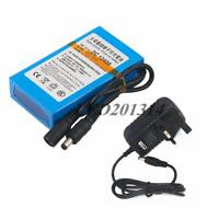 12V DC Portable 4000mAh Li-ion Rechargeable Battery Pack CCTV Compact LED Strip