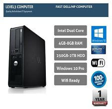 FAST DELL / HP PC COMPUTER DESKTOP TOWER WINDOWS 10 WIFI 8GB RAM 2TB HDD