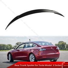 Fits 17-20 Tesla Model 3 Sedan Trunk Spoiler Painted #PPMR Sunset Red Metallic