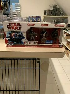 Star Wars Evolutions CLONE COMMANDOS Legacy Collection Clone Wars Walmart