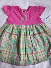 Mulberribush Baby Toddler Girl Pink Knit w/ Seersucker Plaid Dress sz 24 mo NWT