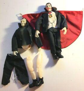 "1979 REMCO Universal Monsters Glow in the dark Dracula & Frankenstein 9"" figures"