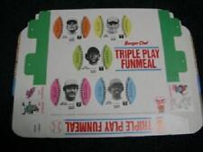 1977 BURGER CHEF BASEBALL 9 CARD DISC FUNMEAL TRAY BRAVES NEIKRO MATHEWS CHANEY