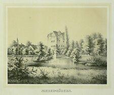 Tonlithografie 1854 - EBERSBACH Rittergut Niederrödern - Poenicke