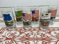 Vintage Set Of 6 Coca Cola National Flags Heritage Collector Series
