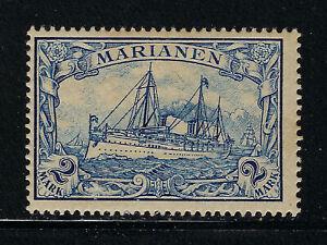 MARIANA ISLANDS SCOTT 27 1901 2 MARK KAISERS YACHT ISSUE MH OG F-VF!