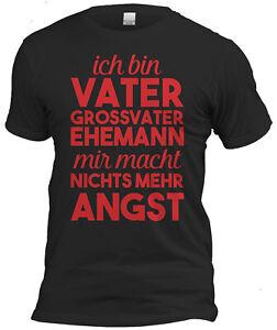 Fun T-Shirt + Urkunde Geschenk Set Opa Vatertag Geburtstag Weihnachten schwarz