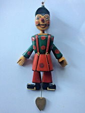 Folk Art~ VINTAGE PAINTED WOOD MARIONETTE PUPPET (Pinocchio)~14-1/2 Inch