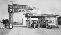 Gilmore OIl Economy Gas Service Station Photo Gasoline Vermont Ave Los Angeles
