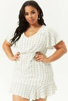 Forever 21 Plus Size Ivory Beach Floral Print Dress 2X