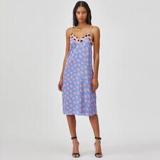 Equipment Silk Contrast Color Flower Print V-neck Camisole Slip Dress Skirt