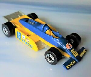 Vintage KRACO INDY RACER, No 18 * 1982 HOT WHEELS * Blue & Yellow ~ GREAT SHAPE!