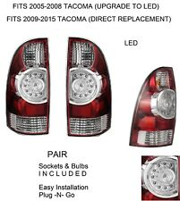 NEW PAIR DRIVER PASSENGER REPLACEMENT LED TAIL BRAKE LIGHTS FOR 2005-15 TACOMA