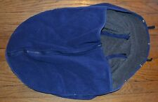 Infant Car Seat & Carrier Cover Basic Comfort Blue Fleece
