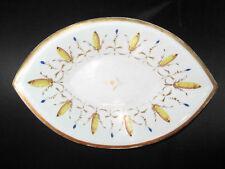 ancien plat en porcelaine peinte époque restauration XIX ème
