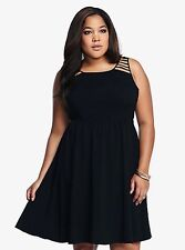 01863066f84b New Torrid Women s Goth Retro Boho Black Challis Cutout Dress Plus Size 16