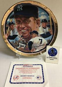 Vintage Mickey Mantle sports impressions collectors plate yankees, hof 776/1956