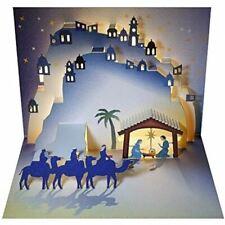 Forever láser de corte pop-up tarjeta de Navidad-Natividad sabios & camellos