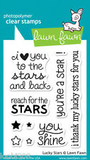 LAWN FAWN CLEAR STAMP SET - LUCKY STARS LF514 verses sentiments love reach