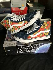 VANS X STAR WARS Sk8-Hi Reissue Yoda Aloha Shoes Men's Size 9.5 Woman's Size 11