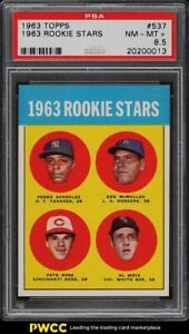 1963 Topps Pete Rose ROOKIE RC #537 PSA 8.5 NM-MT+