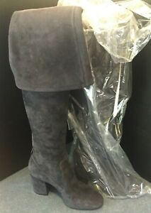 Coach Womens Size 5 Giselle Over The Knee Boot Midnight Navy Fashion Suede $495