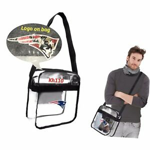 NFL New England Patriots Clear Crossbody Carry All (Stadium Security Approved)