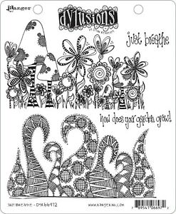 """Dyan Reaveley's Dylusions Cling Stamp Collections 8.5""""X7""""-Just Breathe"""