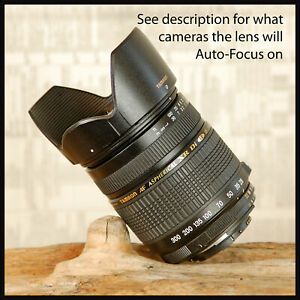 All in One Nikon AF Digital Tamron 28 300mm Di Lens + Petal Hood 11x Zoom