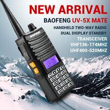 Baofeng UV-5X Mate Handheld Dual Band 2 way Radio VHF/UHF 136-174 MHz 400-520MHz