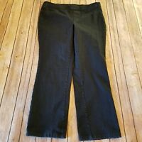 Isaac Mizrahi Live! Size 14P Petite 24/7 Stretch Straight Leg Pants Dark Wash