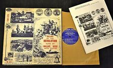 "10"" FOLK LP Wallace House Folkways 2151 Ballads Of The American Revolution"