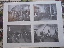 1906 Zeitungsdruck 3 / Berlin Wärmehalle Alexanderplatz / Maler Heinrich Lessing