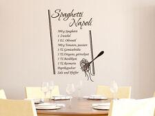 Tatuaggio parete cucina ricetta spaghetti Napoli Cucina Tatuaggio Parete Adesivo Decorazione